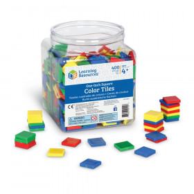 Plastic Square Color Tiles, 400 Pieces