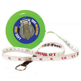 Wind-Up Tape Measure, 33 ft/10M