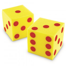 Giant Soft Cubes Dot 2Pk 5In Square