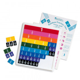 Rainbow Fraction Plastic Tiles with Tray, Set of 51