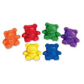 Baby Bear Counters, 6 colors, Set of 102