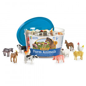 Farm Animal Counters, Set of 60