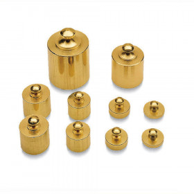 Brass Mass Set 10/Pk Precision Weight Metric