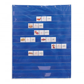 "Standard Pocket Chart, 33.5"" x 42"", Blue"