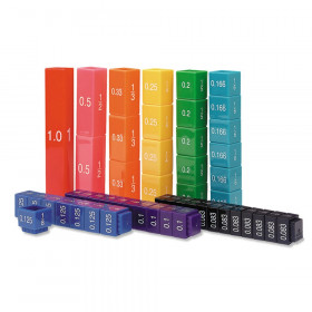 Fraction Tower Equivalency Cube Set, Set of 51