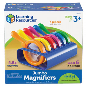 Primary Science Jumbo Magnifiers Set Of 6 In A Stand