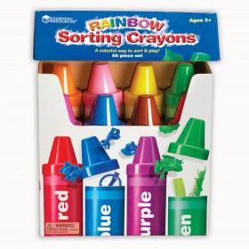 Rainbow Sorting Crayons, 56 Pieces
