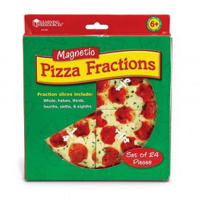 Magnetic Pizza Fraction Set, 6/pkg