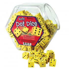 Soft Foam Dot Dice, 200 Count