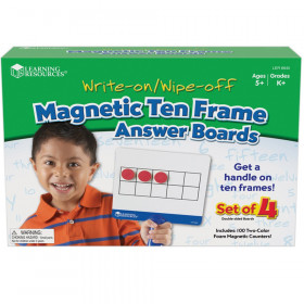 Magnetic Ten Frame Answer Write & Wipe Board Set, 4 Per Pack