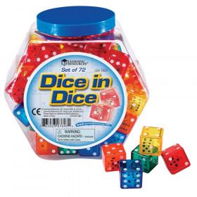 Dice in Dice Bucket, Pack of 72