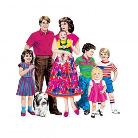 Caucasian Family Flannelboard Set, Pre-cut