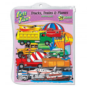 Trains, Trucks, & Planes Flannelboard Set