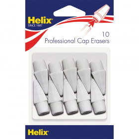 Professional Pencil Cap Erasers, White, Pack of 10