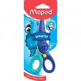 """Kidicut Spring-Assisted Plastic Safety Scissors, 4.75"""""""