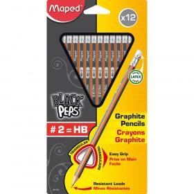 Black Peps #2 Pencil, Pack of 12