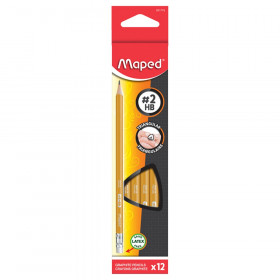 Yellow Pre-Sharpened Triangular #2 Pencils, Box of 12