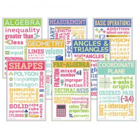 Math Chatter Charts, Set of 8