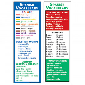 Spanish Vocabulary Smart Bookmarks