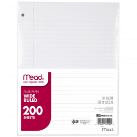 Mead Notebook Filler Paper, Wide Ruled, 200 ct