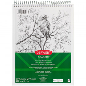 "Derwent Academy Wirebound Sketchbook 9"" x 12"", 70CT"