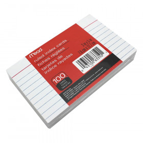 """Index Cards, Ruled, 3"""" x 5"""""""