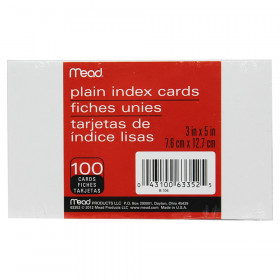 Index Cards, Plain, 3 x 5