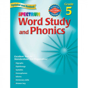 Spectrum Word Study & Phonics Gr 5
