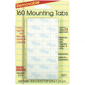 """Removable Tabs, 1/2"""" x 1/2"""", Pack of 160"""