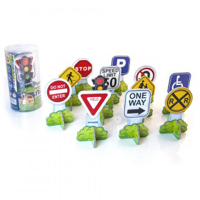 Minimobil Traffic Signs, 25 Pieces