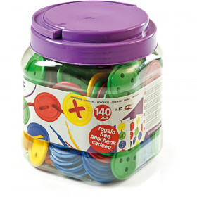 Lacing Buttons 140 Pc Jar