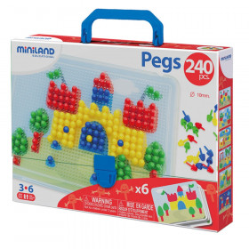 """Primary Peg Sets, 3/8"""" Pegs, 240 pieces"""
