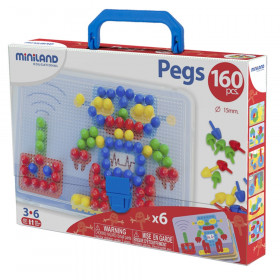 """Primary Peg Sets, 5/8"""" Pegs, 160 pieces"""