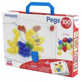 """Primary Peg Sets, 3/4"""" Pegs, 100 pieces"""