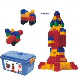 Plastic Interlocking Blocks, 120 Pieces