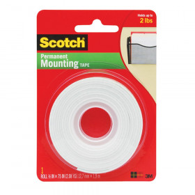 "Indoor Mounting Tape, 1/2"" x 75"""