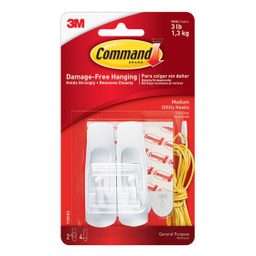 Command Adhesive Reusable Medium Hooks Pack Of 2