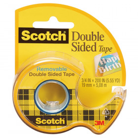 "Removable Double Sided Tape, 3/4"" x 200"""