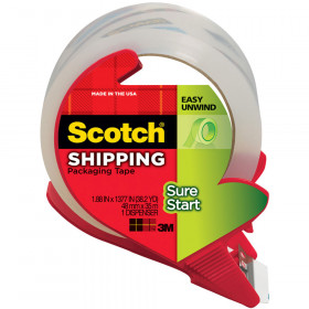 Scotch Sure Start Shipping Packing Tape With Dispenser 1.88 X 38.2 Yd