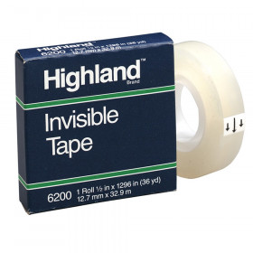 "Invisible Tape, 1/2"" x 1296"""