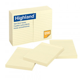 """Self-Stick Notes, 4"""" x 6"""", 100 Sheets/Pad, 12 Pads"""