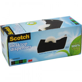 Dispenser Tape Black Single Roll Max Width 3/4