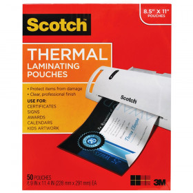 Thermal Laminating Pouches, Letter Size, Pack of 50