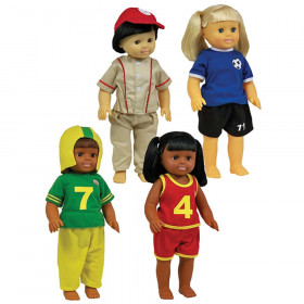 """Sports Doll Clothes, 4 Outfits for 16"""" Dolls"""