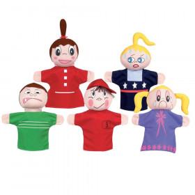 How Am I Feeling Hand Puppet Set, Caucasian, Pack of 5