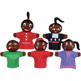 How Am I Feeling Hand Puppet Set, African American, Pack of 5