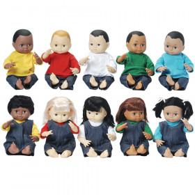 Multi-Ethnic School Dolls, Set of 10