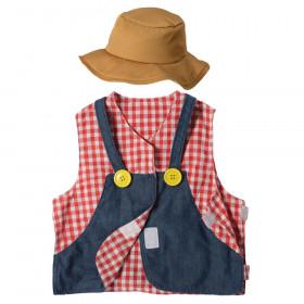 Farmer Toddler Dress-Up, Vest & Hat