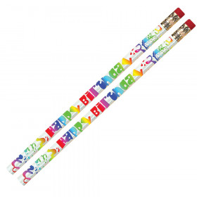 Happy Birthday Fiesta Pencil, Pack of 12