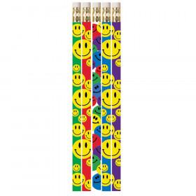 Happy Face Assorted Motivational Pencils, 12/pkg